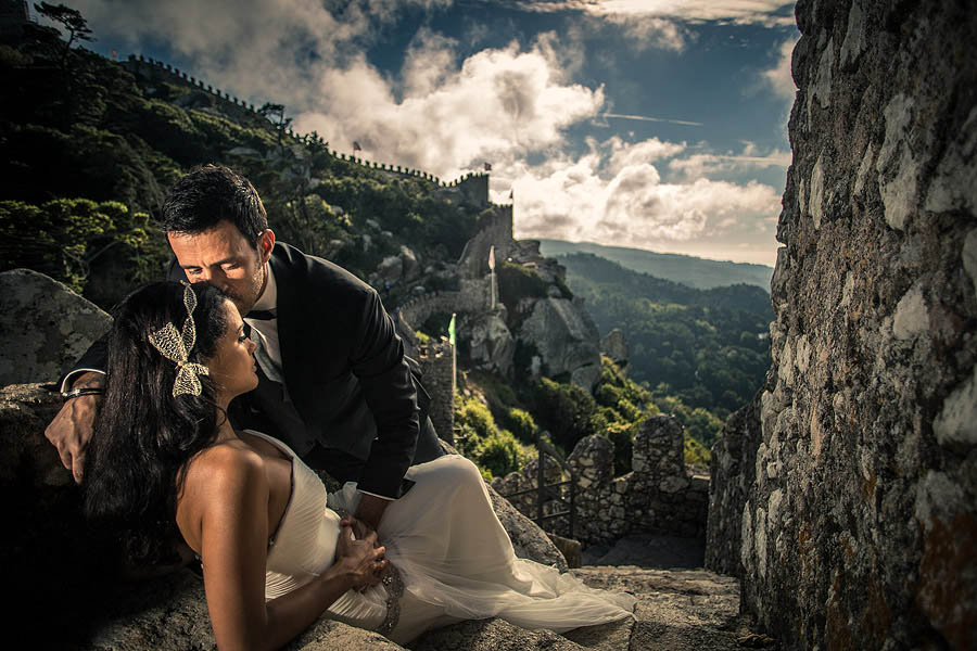 Trash the dress Portugal Castelo dos Mouros Sintra