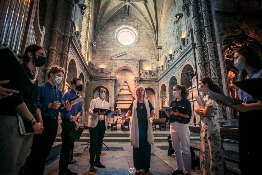 Coral de vozes no casamento Mosteiro dos Jerónimos
