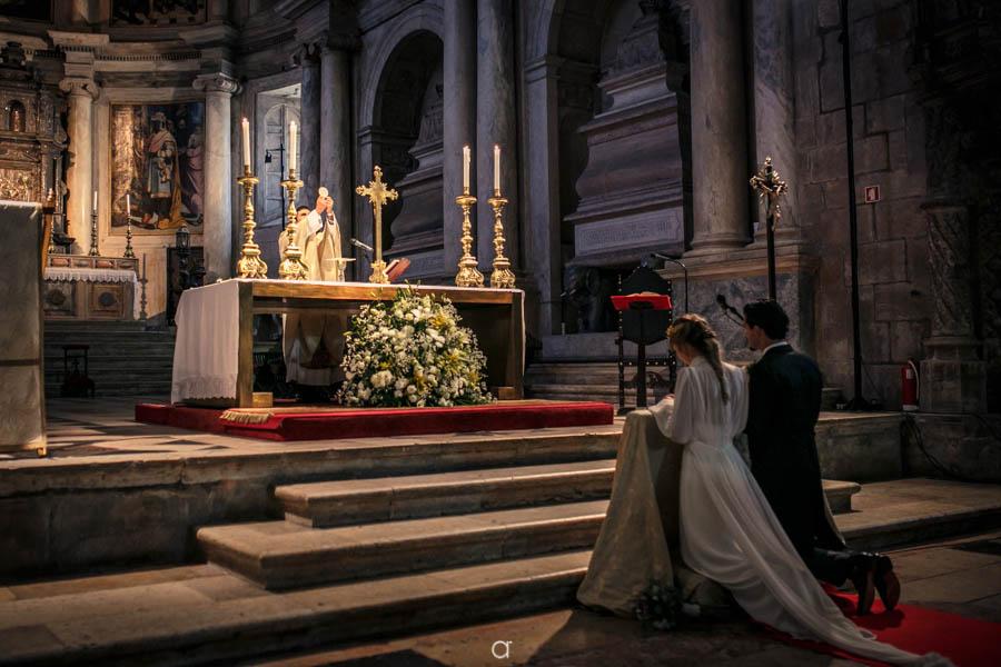Casamento com missa, consagração eucarística